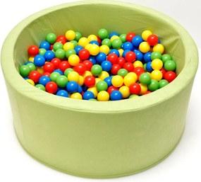 Piscină verde cu bile bile - 200 ks