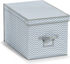 Cos alb/gri din fleece Storage Box White Cover High Zeller