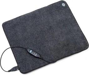OneConcept Magic Carpet DLX, covor de încălzire, 60 x 70 cm, 190 W, 4 temperaturi, cronometru, antracit