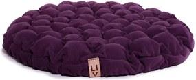 Pernă relaxare cu bile de masaj Linda Vrňáková Bloom, Ø 65 cm, violet