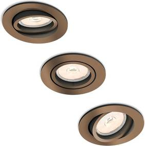 Philips 50393/05/PN - SET 3x Lampa incastrata MYLIVING DONEGAL 3xGU10/5,5W/230V