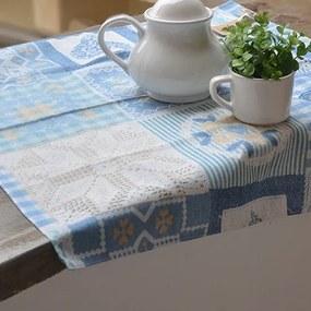 Fata de masa Crochet Azul 70x70 cm