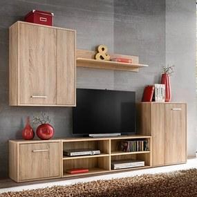 Set mobilier sufragerie cu spațiu TV, 5 piese, stejar Sonoma