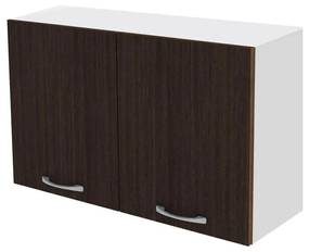 Cabinet suspendat bucatarie, 80x30x50 cm, PAL Alb/Wenge
