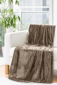 Pătură maro de calitate cu reflexii aurii Lăţime: 150 cm | Lungime: 200 cm