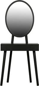 Masă de toaletă cu picioare din lemn de pin WOOOD Vanity, negru