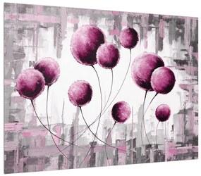 Tablou abstract - balonașe roz (K014723K7050)