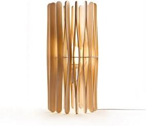 Stick B16 - Lampă de masă minimalistă cu abajur din lemn