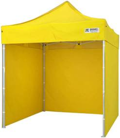 Cort pliabil 2x2m  - 2x2m cu 3 pereți - galben
