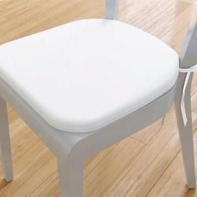 Goldea pernă pentru scaun rotundă din bumbac 39x37cm - alb 39 x 37 cm