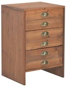 247624 vidaXL Noptieră, 40 x 35 x 60 cm, lemn masiv de brad