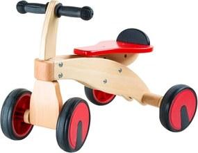Bicicletă premergător cu 4 roți Legler Red Racer