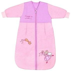 Slumbersac - Sac de dormit cu maneca lunga Pink Fairy 1-3 ani 2.5 Tog