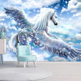 Fototapet Bimago - Pegasus (Blue) + Adeziv gratuit 200x140 cm
