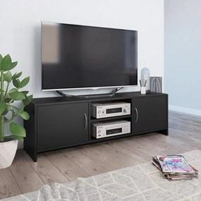 800280 vidaXL Comodă TV, negru, 120 x 30 x 37,5 cm, PAL