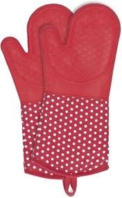 Set 2 mănuși din silicon Wenko Oven Red, roșu