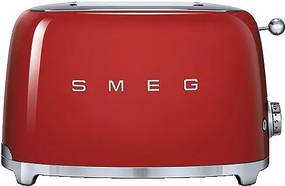 Prajitor de paine Smeg TSF01RDEU, 950 W, rosu, retro