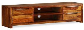 243945 vidaXL Comodă TV din lemn masiv de sheesham, 120 x 30 x 30 cm