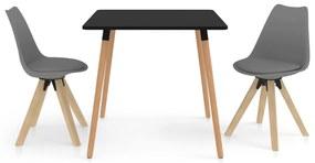 3057038 vidaXL Set mobilier de bucătărie, 3 piese, gri