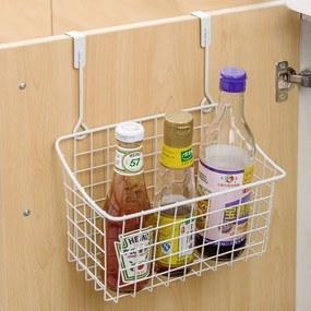 Organizator suspendabil pentru bucatarie, Metal, Alb 28x12x22 cm