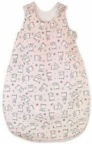 KidsDecor - Sac de dormit fara maneci Baby bear 60 cm din Bumbac, 60x23 cm, 0-3 luni, Tog 1.0, Roz
