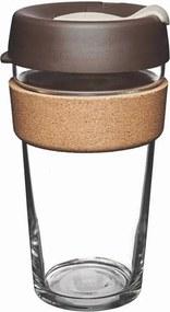 Cană de voiaj cu capac KeepCup Brew Cork Edition Almond, 454 ml