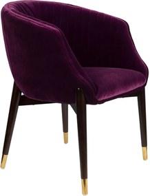 Scaun dining catifea violet Dolly Armchair Purple | DUTCHBONE