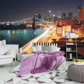 Fototapet - New York City Urban Brooklyn Bridge (152,5x104 cm), în 8 de alte dimensiuni noi