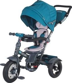 Tricicleta multifunctionala cu roti gonflabile Coccolle Giro Plus Albastra