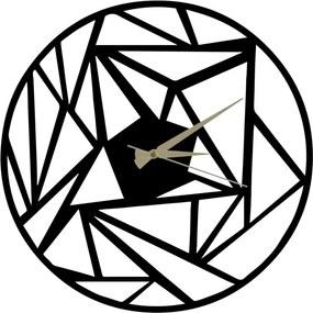 Ceas din metal Peony, 60 x 50 cm