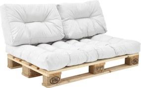 [en.casa]® Set perne interior - canapea paleti - 1 x perna sezut + 2 x perne spate - alb