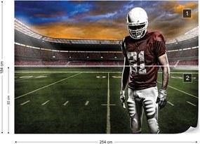 Fototapet GLIX - American Football Player Stadium  + adeziv GRATUIT Tapet nețesute - 254x184 cm