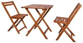 44015 vidaXL Set mobilier bistro pliabil, 3 piese, lemn masiv de acacia
