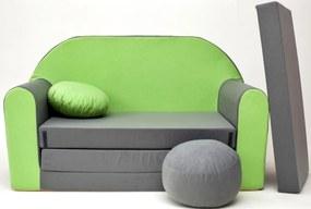 Canapea copii – verde-gri A 1+