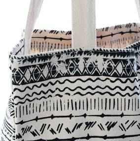 Sacosa Boho din textil 36x8x38 cm