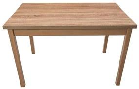Masa living Max3 S, sonoma, fixa 120x78x70 cm, lemn masiv de fag/pal