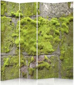 CARO Paravan - Moss On The Wall | cvadripartit | reversibil 145x150 cm