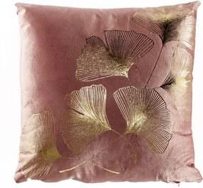 Perna decorativa patrata roz/aurie din catifea 40x40 cm Daisy Invicta Interior