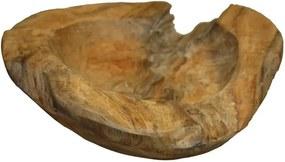 Fructieră din lemn de tec HSM Collection Mara, 20 cm
