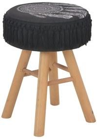 247397 vidaXL Taburet, negru, material textil