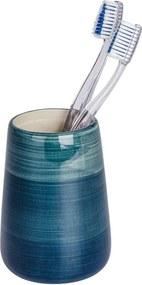 Suport pentru periuțe de dinți Wenko Pottery, albastru petrol