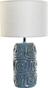Veioza Spirals din ceramica albastra 50 cm