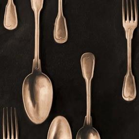 Tapet - Cutlery Copper