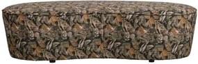 Bancheta catifea cu imprimeu Macaroni Sofa