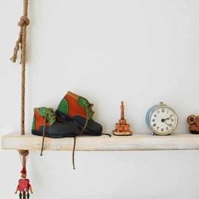 Raft de Perete din Lemn Masiv cu Franghie (75x9x4 cm) CPT1085 - 75
