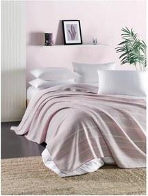 Cuvertură subțire matlasată pentru pat de o persoană Runino Carrie, 160 x 220 cm, roz - galben