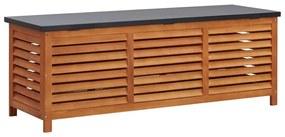 47286 vidaXL Ladă depozitare grădină, 150x50x55 cm, lemn masiv de eucalipt