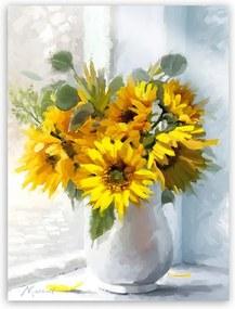 Tablou Styler Canvas Flowers Sunflowers, 60 x 80 cm
