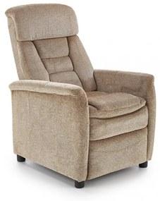 Fotoliu recliner tapitat Jordan bej - H 106-79 cm