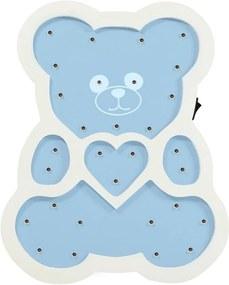 LED Lampă copii LED/2xAA ursuleț albastru